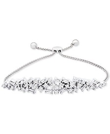 Wrapped in Love™ Diamond (1 ct. t.w.) Bolo Bracelet in 14k White Gold, Created for Macy's