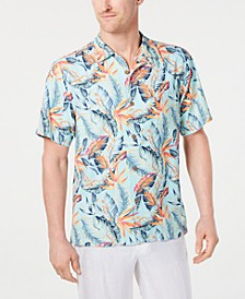 Men's Big & Tall Break Wave Fronds Performance Island Zone Hawaiian Camp Shirt