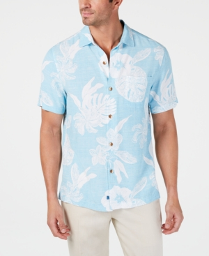 Tommy Bahama T-shirts MEN'S REGULAR-FIT GEOMETRIC HAWAIIAN CAMP SHIRT