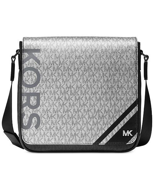 1c1c28e1df79 Michael Kors Men's Jet Set Logo-Print Messenger Bag & Reviews - All ...