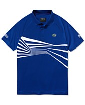 d4be82813dca8 Lacoste Men s Novak Djokovic Center Geo Print Ultra Dry Polo