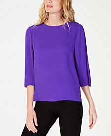 Eileen Fisher Silk 3/4-Sleeve Top