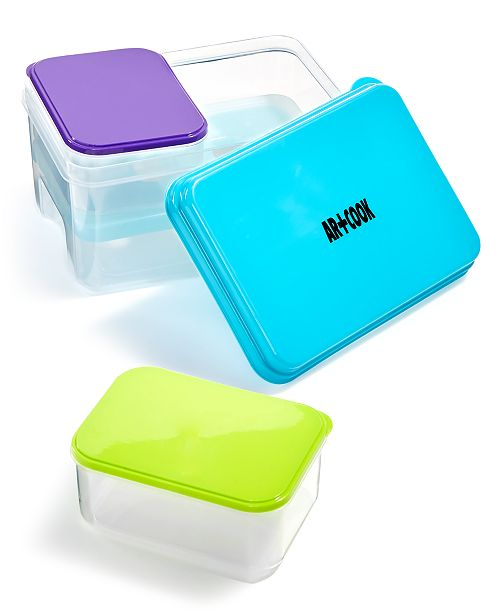 Art & Cook 4-Pc. Lunch Container Set with Ice Pack