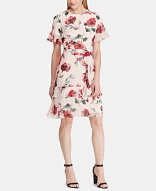 Lauren Ralph Lauren Petite Floral-Print Georgette Dress