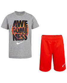 Nike Toddler Boys 2-Pc. Awesomeness-Print T-Shirt & Shorts Set