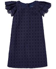 Polo Ralph Lauren Little Girls Eyelet Woven Cotton Dress