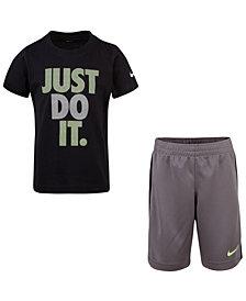 Nike Little Boys 2-Pc. Just Do It Graphic T-Shirt & Shorts Set