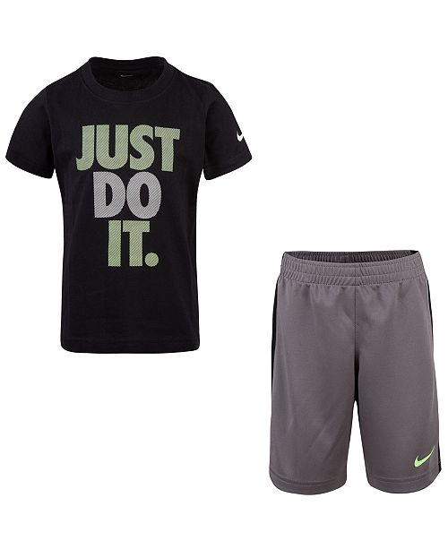 92675ac7 ... Nike Little Boys 2-Pc. Just Do It Graphic T-Shirt & Shorts ...