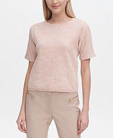 Calvin Klein Jacquard Knit Short-Sleeve Top