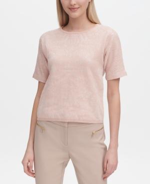 Calvin Klein Knits JACQUARD KNIT SHORT-SLEEVE TOP