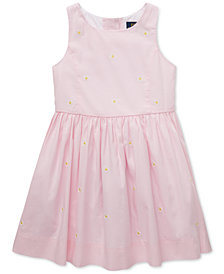 Polo Ralph Lauren Toddler Girls Daisy Fit & Flare Cotton Dress