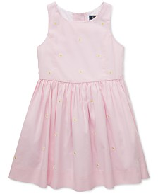 Polo Ralph Lauren Little Girls Daisy Fit & Flare Cotton Dress