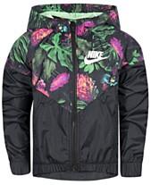 best service e3c61 cca75 Nike Little Girls Glow Botanical-Print Zip-Up Jacket