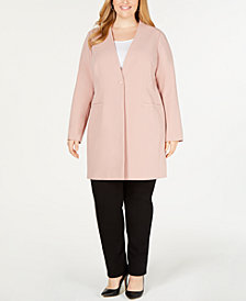Alfani Plus Size Long Blazer, Created for Macy's