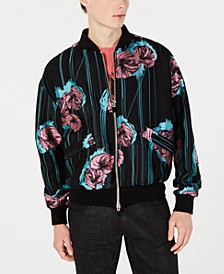 Men's Floral Embroidered Bomber Jacket