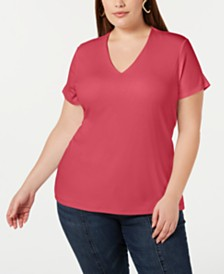 I.N.C. Plus Size V-Neck Top, Created for Macy's