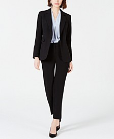 One-Button Jacket, Straight-Leg Pants & Blouse, Created for Macy's