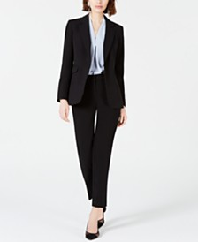 Bar III One-Button Jacket, Straight-Leg Pants & Blouse, Created for Macy's