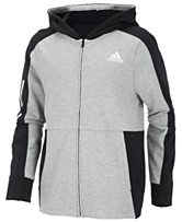 738097b52c84d adidas Big Boys Transitional Full-Zip Cotton Jacket