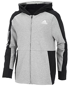 adidas Big Boys Transitional Full-Zip Cotton Jacket
