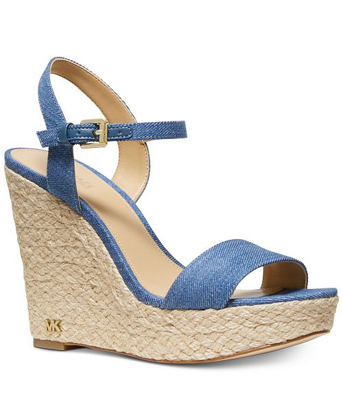 a02c697fb46b Michael Kors Jill Espadrille Wedge Sandals   Reviews - Sandals ...