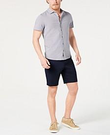 Men's Neat Shirt & Stretch Poplin Shorts