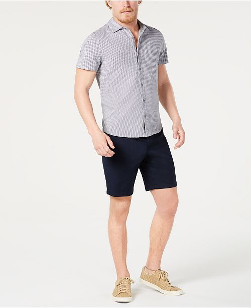 Michael Kors Men's Neat Shirt & Stretch Poplin Shorts