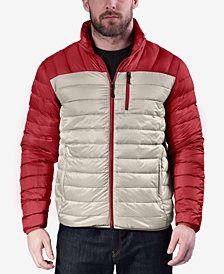 Hawke & Co. Outfitter Men's Colorblocked Packable Down Blend Jacket
