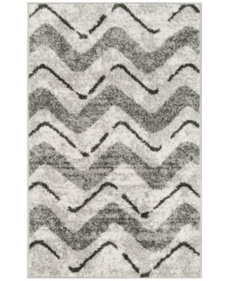 Adirondack Silver and Charcoal 8' x 10' Area Rug