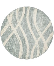 Safavieh Adirondack Cream and Slate 6' x 6' Round Area Rug