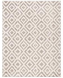 Amsterdam Ivory and Mauve 8' x 10' Sisal Weave Area Rug