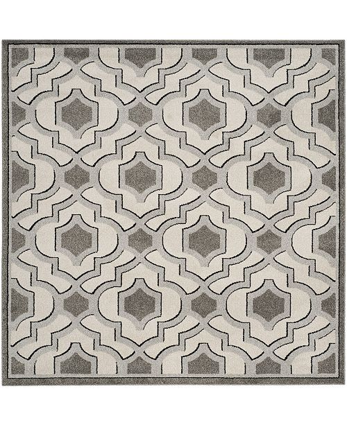 Safavieh Amherst Ivory and Gray 7' x 7' Square Area Rug