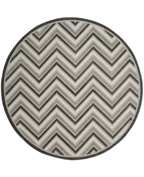 "Safavieh Cottage Dark Gray and Light Gray 6'7"" x 6'7"" Round Area Rug"