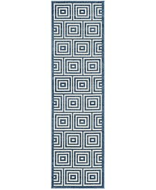"""Cottage Cream and Light Blue 2'3"""" x 8' Runner Area Rug"""