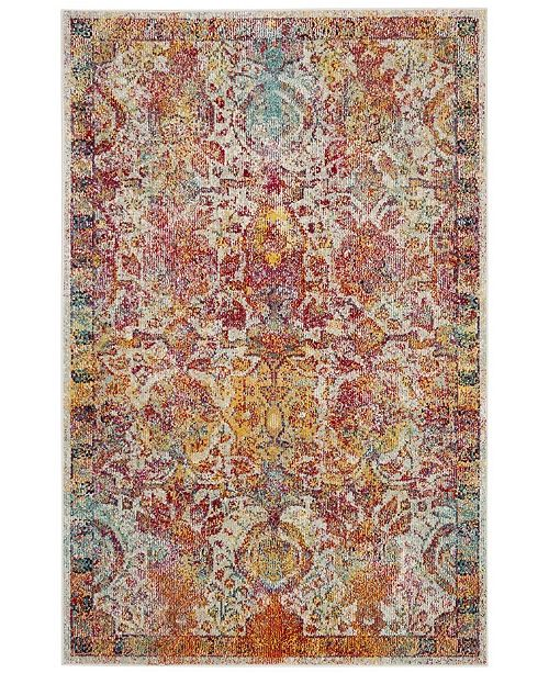 Safavieh Crystal Light Blue and Orange 4' x 6' Area Rug