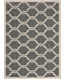 "Safavieh Courtyard Anthracite and Beige 4' x 5'7"" Sisal Weave Area Rug"