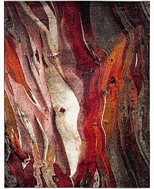 Safavieh Glacier Red and Multi 8' x 10' Area Rug