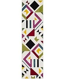 """Hollywood Ivory and Rose 2'2"""" x 8' Runner Area Rug"""
