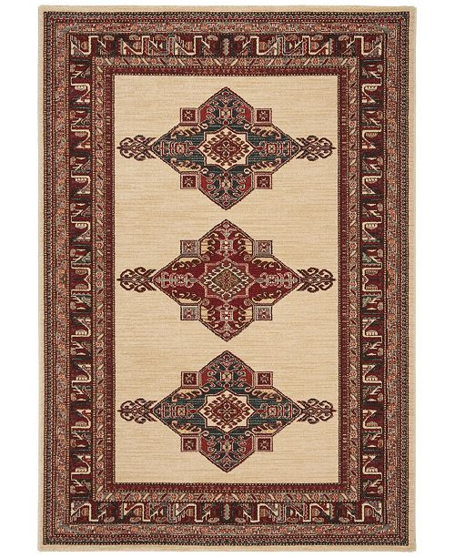 "Safavieh Mahal Creme and Red 5'1"" x 7'7"" Area Rug"