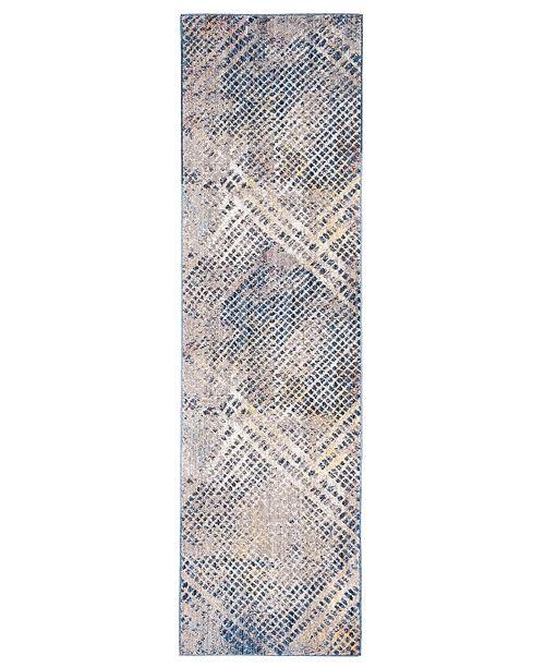 "Safavieh Monray Blue and Multi 2'3"" x 8' Runner Area Rug"