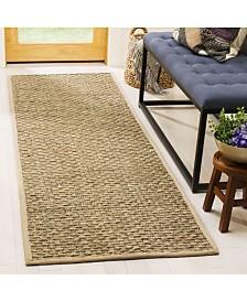 "Safavieh Natural Fiber Natural and Beige 2'6"" x 8' Sisal Weave Runner Area Rug"