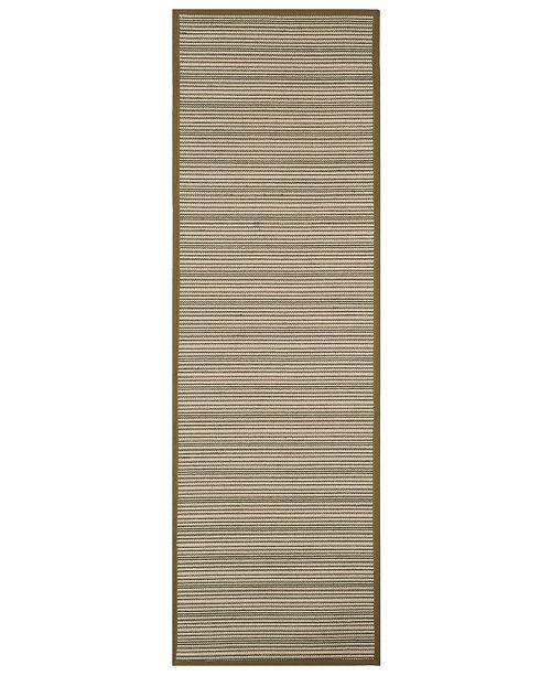 "Safavieh Natural Fiber Multi and Green 2'6"" x 8' Sisal Weave Runner Area Rug"