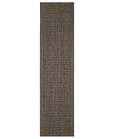 Palm Beach Silver 2' x 8' Sisal Weave Runner Area Rug