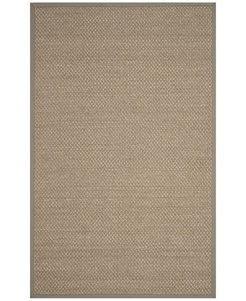 Safavieh Natural Fiber Natural and Gray 5' x 8' Sisal Weave Area Rug