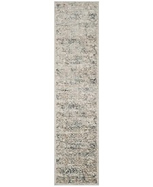 Princeton Silver and Anthracite 2' x 8' Runner Area Rug