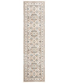"""Vintage Persian Ivory and Light Grey 2'2"""" x 8' Runner Area Rug"""