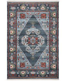 "Safavieh Vintage Persian Blue and Light Blue 5' x 7'6"" Area Rug"