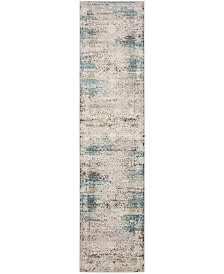 Safavieh Aria Cream and Blue 2' x 8' Runner Area Rug