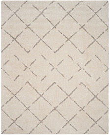 Safavieh Arizona Shag Ivory and Beige 8' x 10' Area Rug