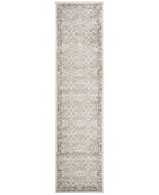 Brentwood Cream and Grey 2' x 8' Runner Area Rug